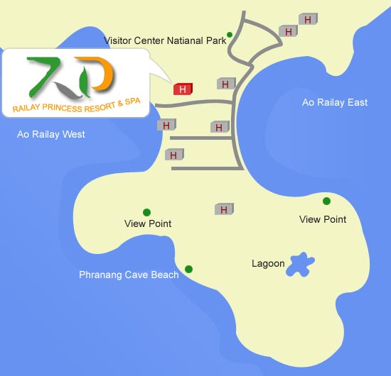 Railay Princess Resort and Spa Map